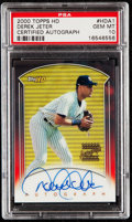 Baseball Cards:Singles (1970-Now), 2000 Topps HD Autograph Derek Jeter #HDA1 PSA Gem Mint 10....