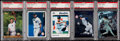 Baseball Cards:Lots, 1993-97 Derek Jeter PSA Gem Mint 10 Collection (5)....