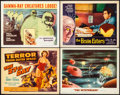 """Movie Posters:Science Fiction, The 27th Day & Other Lot (Columbia, 1957). Very Fine-. Title Lobby Cards (2) & Lobby Cards (2) (11"""" X 14""""). Science Fiction.... (Total: 4 Items)"""