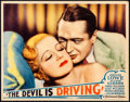 """Movie Posters:Crime, The Devil is Driving (Paramount, 1932). Very Fine+. Lobby Card (11"""" X 14""""). Crime.. ..."""