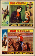 """Movie Posters:Western, Riders of the Desert & Other Lot (Sono Art-World Wide Pictures, 1932). Very Fine-. Lobby Cards (2) (11"""" X 14""""). Western.. ... (Total: 2 Items)"""