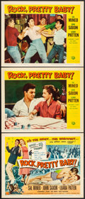 """Movie Posters:Rock and Roll, Rock, Pretty Baby (Universal International, 1957). Very Fine. Title Lobby Card & Lobby Cards (2) (11"""" X 14""""). Rock and Roll.... (Total: 3 Items)"""