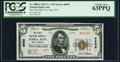 National Bank Notes:West Virginia, Terra Alta, WV - $5 1929 Ty. 2 The First NB Ch. # 6999 PCGS ChoiceNew 63PPQ.. ...
