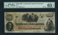 Confederate Notes:1862 Issues, T41 $100 1862 PF-12 Cr. 317A PMG Gem Uncirculated 65 EPQ.. ...