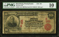 National Bank Notes:Pennsylvania, Harrisburg, PA - $10 1902 Red Seal Fr. 613 The First NB Ch. # (E)201 PMG Very Good 10.. ...