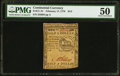 Colonial Notes:Continental Congress Issues, Continental Currency February 17, 1776 $1/2 PMG About Uncirculated 50.. ...