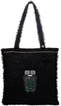 "Luxury Accessories:Bags, Chanel Black Metallic Tweed Robot Tote Bag. The Collection of Candy Spelling. Condition: 1. 15"" Width x 16"" Height..."