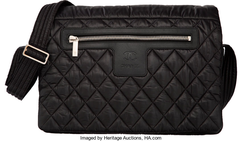 a3bc63e5bfa857 TheCollection; Luxury Accessories:Bags, Chanel Black Quilted Nylon Coco  Cocoon Large Messenger Bag.