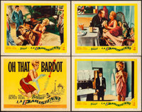 "La Parisienne (United Artists, 1958). Overall: Very Fine-. Title Lobby Card & Lobby Cards (3) (11"" X 14"")..."