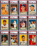 Baseball Cards:Sets, 1952 Topps Baseball Low Number Mid to High Grade Near Set (306/310). ...