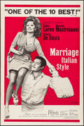 "Movie Posters:Foreign, Marriage Italian-Style (Embassy, 1964). Folded, Very Fine-. One Sheet (27"" X 41""). Foreign.. ..."