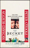 "Movie Posters:Drama, Becket (Paramount, 1964). Very Fine-. Window Cards (6) Identical (14"" X 22""). Drama.. ... (Total: 6 Items)"