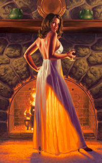 Greg Hildebrandt (American, b. 1939) Brandy Acrylic on panel 37.5 x 23.5 in. Signed lower left