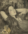 Mainstream Illustration, Wladyslaw Theodor Benda (American/Polish, 1873-1948).Daydreams. Charcoal, pastel, and watercolor on board. 19.5 x16 in...