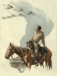 William Henry Dethlef Koerner (American, 1878-1938) Wild Geese, The Pictorial Review interior illustration<