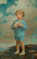 Mainstream Illustration, Jessie Willcox Smith (American, 1863-1935). Portrait of aBoy, 1926. Oil on canvas. 40 x 25 in.. Signed lower left. ...
