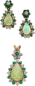 Estate Jewelry:Suites, Diamond, Opal, Emerald, Gold Jewelry Suite. ... (Total: 2 Items)