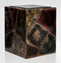Paul Evans (American, 1931-1987) Side Table, 1967 Welded and patinated steel, slate 18-1/4 x 14-1