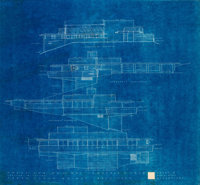 Frank Lloyd Wright (American, 1867-1959) Blueprints for the Mr. and Mrs. Lawrence Swan House, Inkster, Michigan