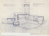 Frank Lloyd Wright (American, 1867-1959) Plans for the Mr. and Mrs. Dudley W Spencer, Brandywine Head, Delaware