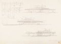 Fine Art - Work on Paper, Frank Lloyd Wright (American, 1867-1959). Plans for the Mr. andMrs. Alex Wainer House, Valdosta, Georgia (seven works),...(Total: 7 Items)