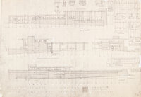 Frank Lloyd Wright (American, 1867-1959) Plans for the Mr. and Mrs. Ellis Feiman House, Canton, Ohio (s