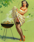 Mainstream Illustration, Gil Elvgren (American, 1914-1980). Smoke Screen, 1958. Oilon canvas. 30 x 24 in.. Signed lower right. The IRI Colle...