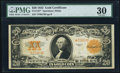 Large Size:Gold Certificates, Fr. 1187* $20 1922 Gold Certificate PMG Very Fine 30.. ...