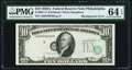 Error Notes:Shifted Third Printing, Fr. 2011-C $10 1950A Federal Reserve Note. PMG Choice Uncirculated 64 EPQ.. ...