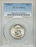 1936-S 25C MS64 PCGS. PCGS Population: (1115/1371). NGC Census: (519/655). CDN: $110 Whsle. Bid for problem-free NGC/PCG...