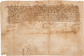 Autographs:Non-American, King Ferdinand and Queen Isabella Document Signed.