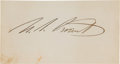 Autographs:U.S. Presidents, Ulysses S. Grant Card Signed ...