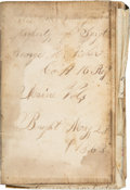 Miscellaneous, Sergeant George H. Fisher's Handwritten 1863-1865 Diary....