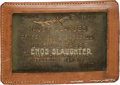 Baseball Collectibles:Others, 1960's Enos Slaughter Major League Baseball Lifetime Pass from TheEnos Slaughter Collection. ...