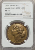 (1917) World War I Good Luck So-Called Dollar, HK-895, MS64 NGC