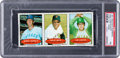 Baseball Cards:Singles (1970-Now), 1971 Bazooka Uncut Panel Hundley/Mays/Hunter (With Numbers) PSA NM7 - The Only Graded Example! ...