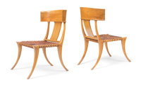 Terence Harold Robsjohn-Gibbings (British, 1905-1976) Pair of Klismos Chairs, circa 1960, Saridis of At