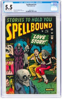 Spellbound #14 (Atlas, 1953) CGC FN- 5.5 Cream to off-white pages