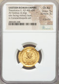 Ancients:Roman Imperial, Ancients: Theodosius II, Eastern Roman Empire (AD 402-450). AV solidus (22mm, 4.42 gm, 7h). NGC Choice AU 5/5 - 3/5, light graffito....