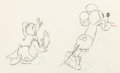 Animation Art:Production Drawing, Mickey's Trailer Mickey Mouse and Donald Duck Animation Drawing (Walt Disney, 1938)....