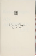 Books:Signed Editions, Ronald Reagan Signed Copy of An American Life. ...