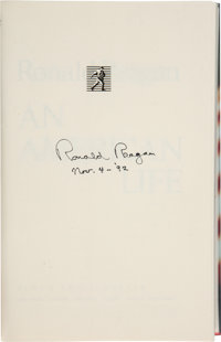 Ronald Reagan Signed Copy of An American Life