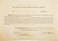 Autographs:U.S. Presidents, James K. Polk Signed Appointment....