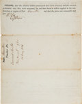 Autographs:Military Figures, Robert E. Lee Signed Fort Hamilton Receipt....