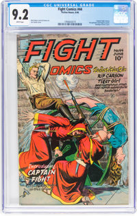 Fight Comics #44 (Fiction House, 1946) CGC NM- 9.2 White pages