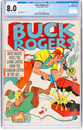 Golden Age (1938-1955):Science Fiction, Buck Rogers #3 (Eastern Color, 1941) CGC VF 8.0 Off-white to white pages....