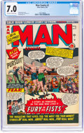 Golden Age (1938-1955):Adventure, Man Comics #2 (Atlas, 1950) CGC FN/VF 7.0 Off-white to white pages....