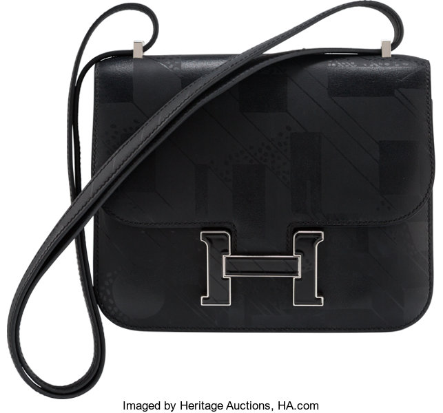 acb6101e8a ... Luxury Accessories:Bags, Hermes Limited Edition 18cm Black Imprime Sombrero  Leather