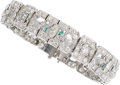 Estate Jewelry:Bracelets, Diamond, Glass, Platinum Bracelet . ...