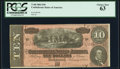 Confederate Notes:1864 Issues, T68 $10 1864 PF-42 Cr. 551 PCGS Choice New 63.. ...